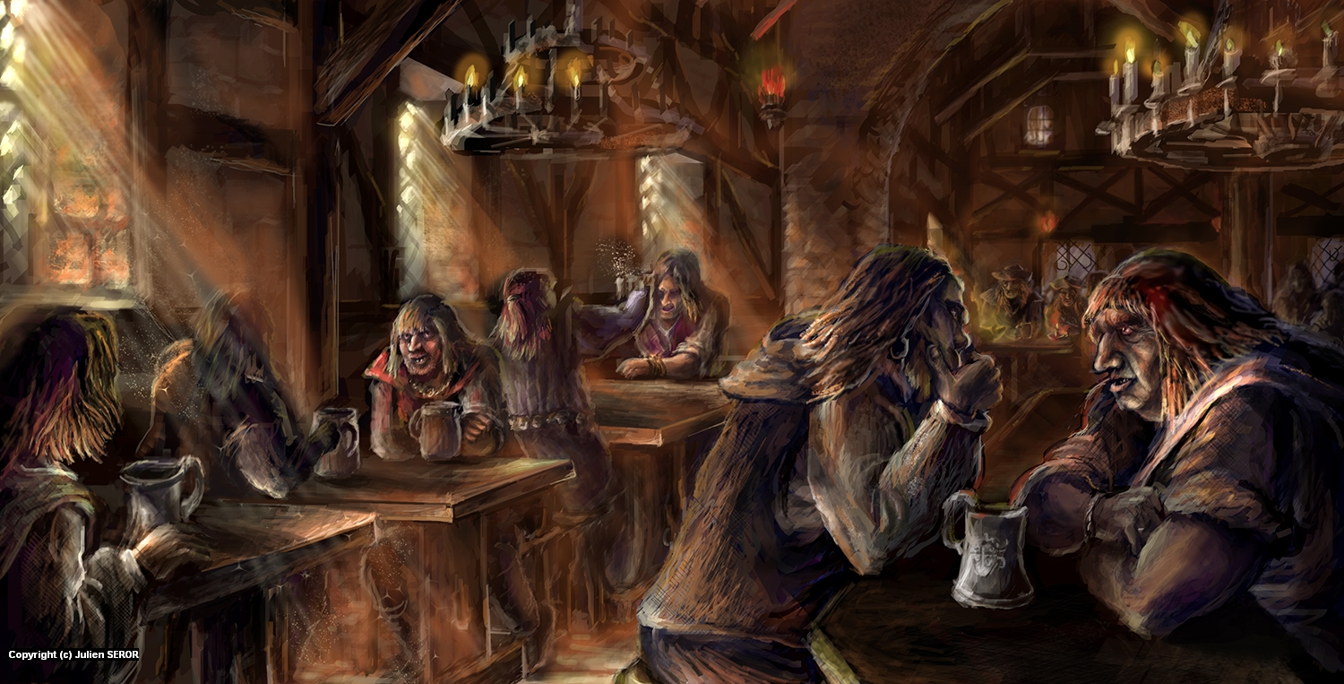Tavern Talk Artwork by Julien SEROR