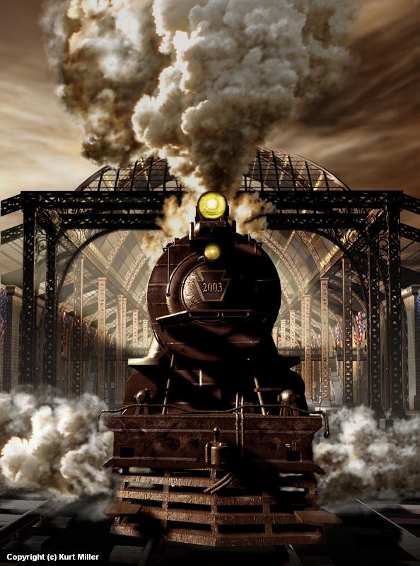 Railroad Tycoon III Artwork by Kurt Miller