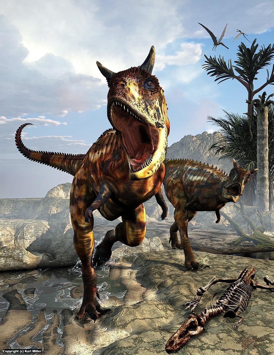 Carnotaurus Artwork by Kurt Miller