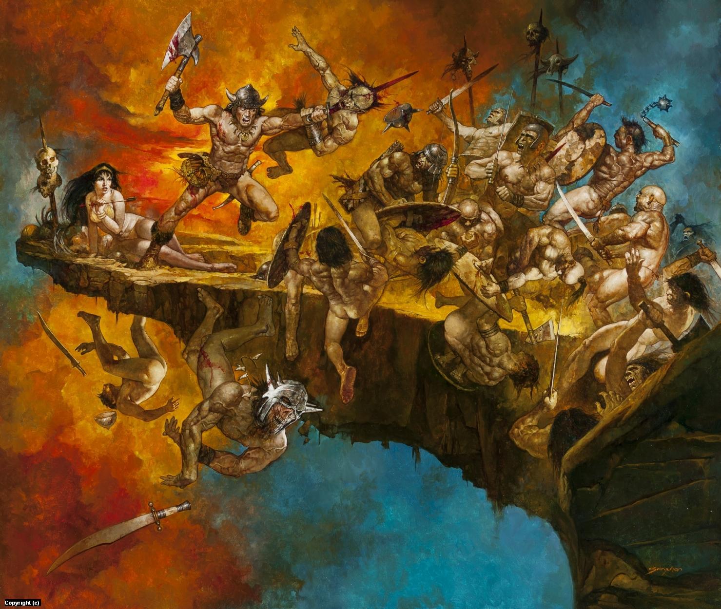 No Where to Run Conan vs. The Horde Artwork by Manuel Sanjulian