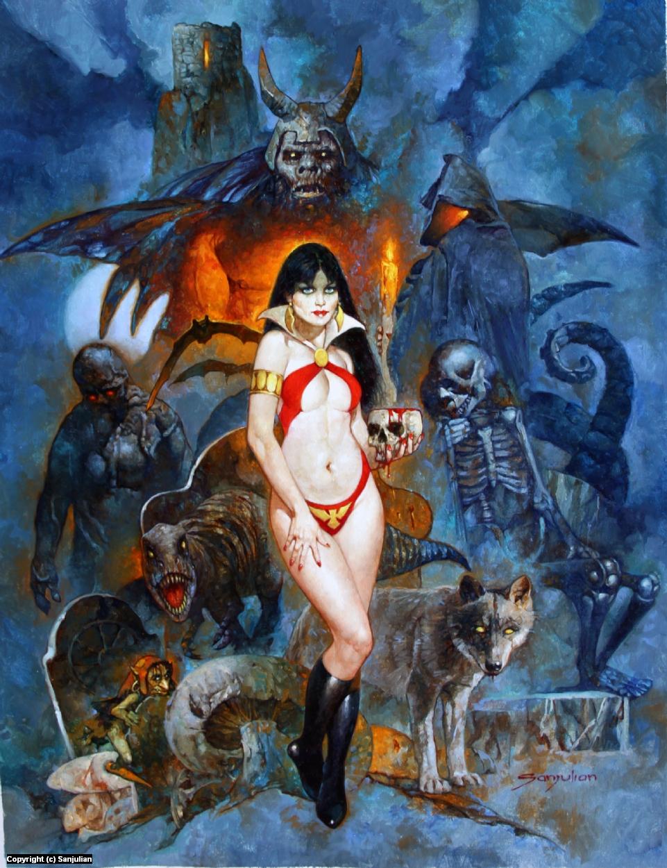 Horde of Chaos - Vampirella  Artwork by Manuel Sanjulian