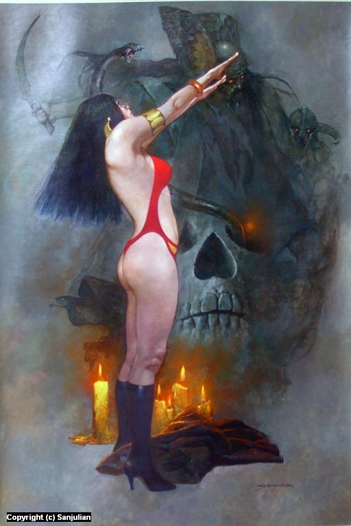 Vampirella Artwork by Manuel Sanjulian