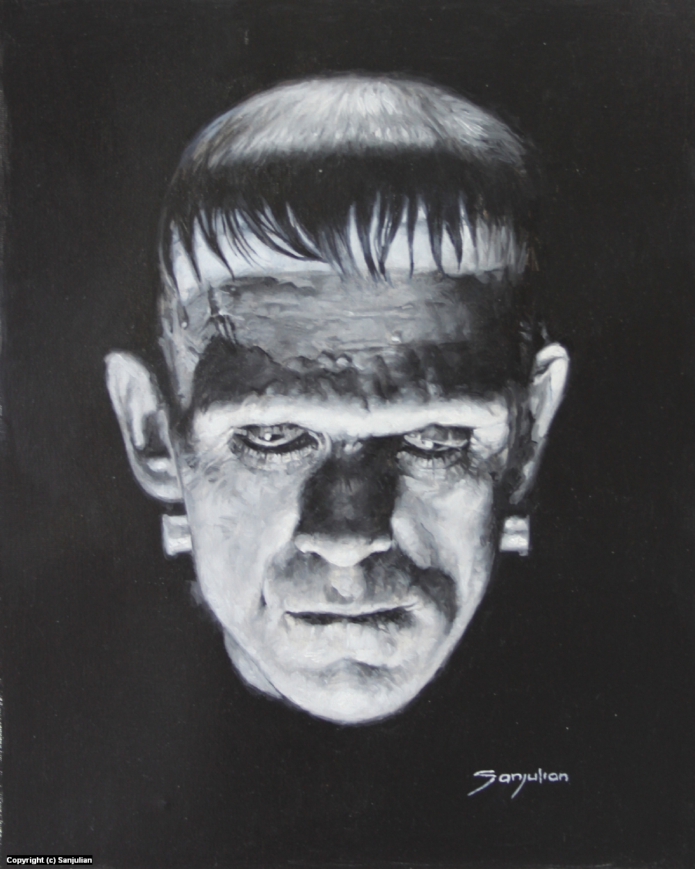 Frankenstein Artwork by Manuel Sanjulian