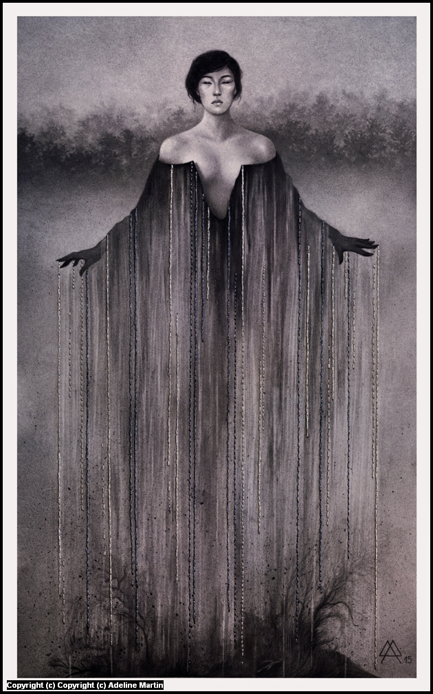 Yōkai Ameonna Artwork by Adeline Martin