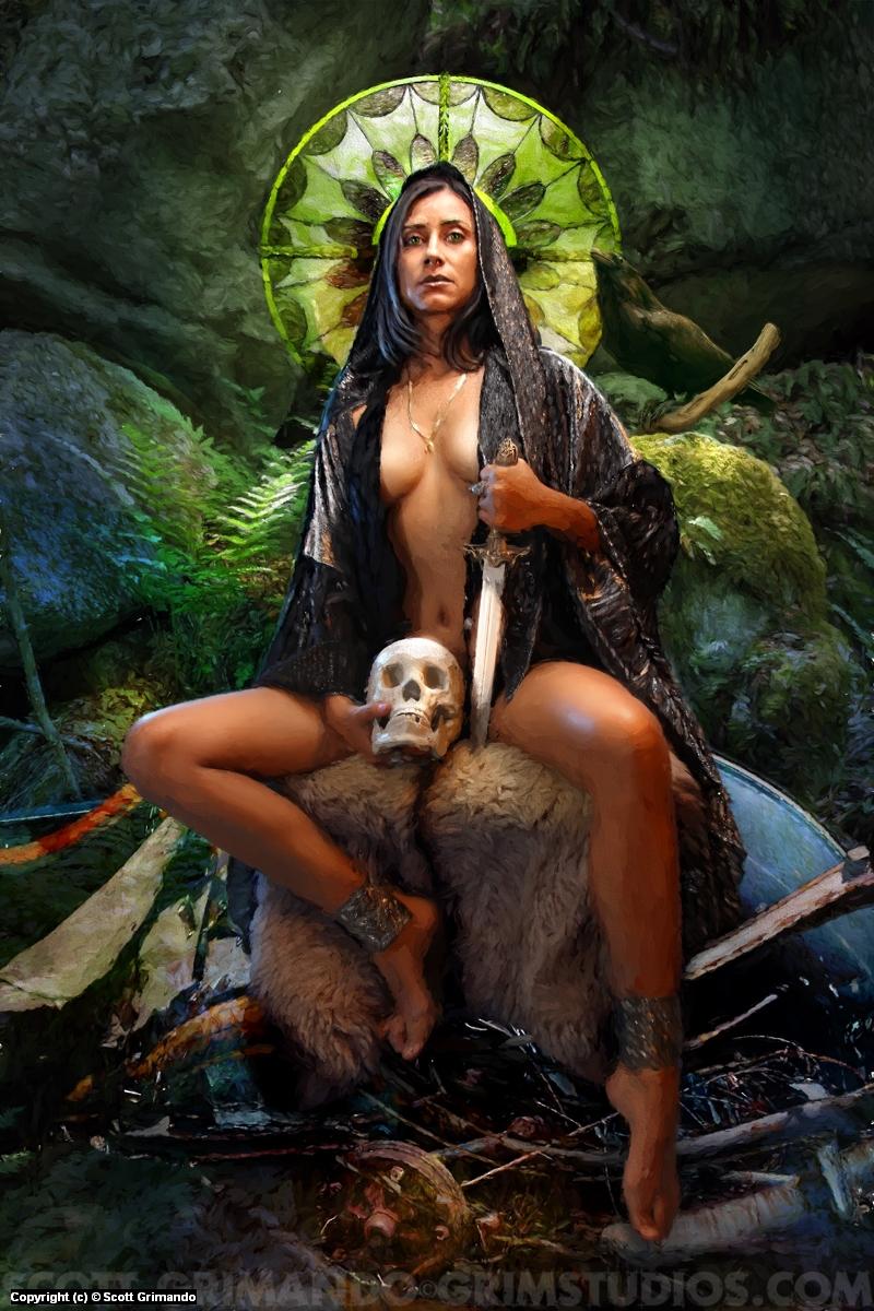 Druid In Ruin Artwork by Scott Grimando