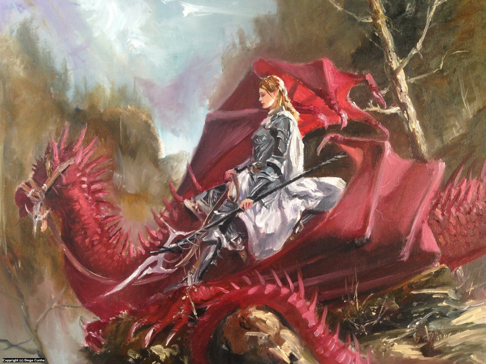 Dragon Rider Artwork by Diego Cunha