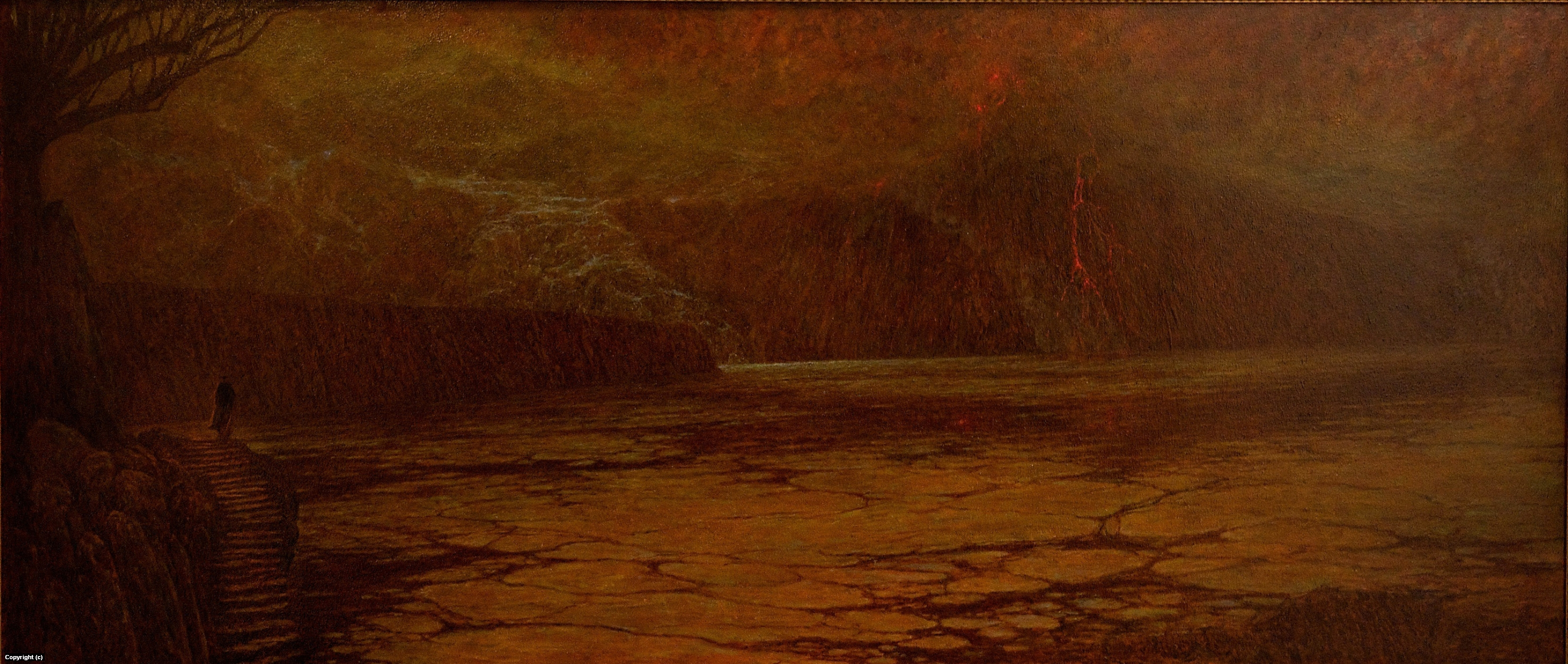 Dante on the banks of the River Styxx Artwork by marc fishman