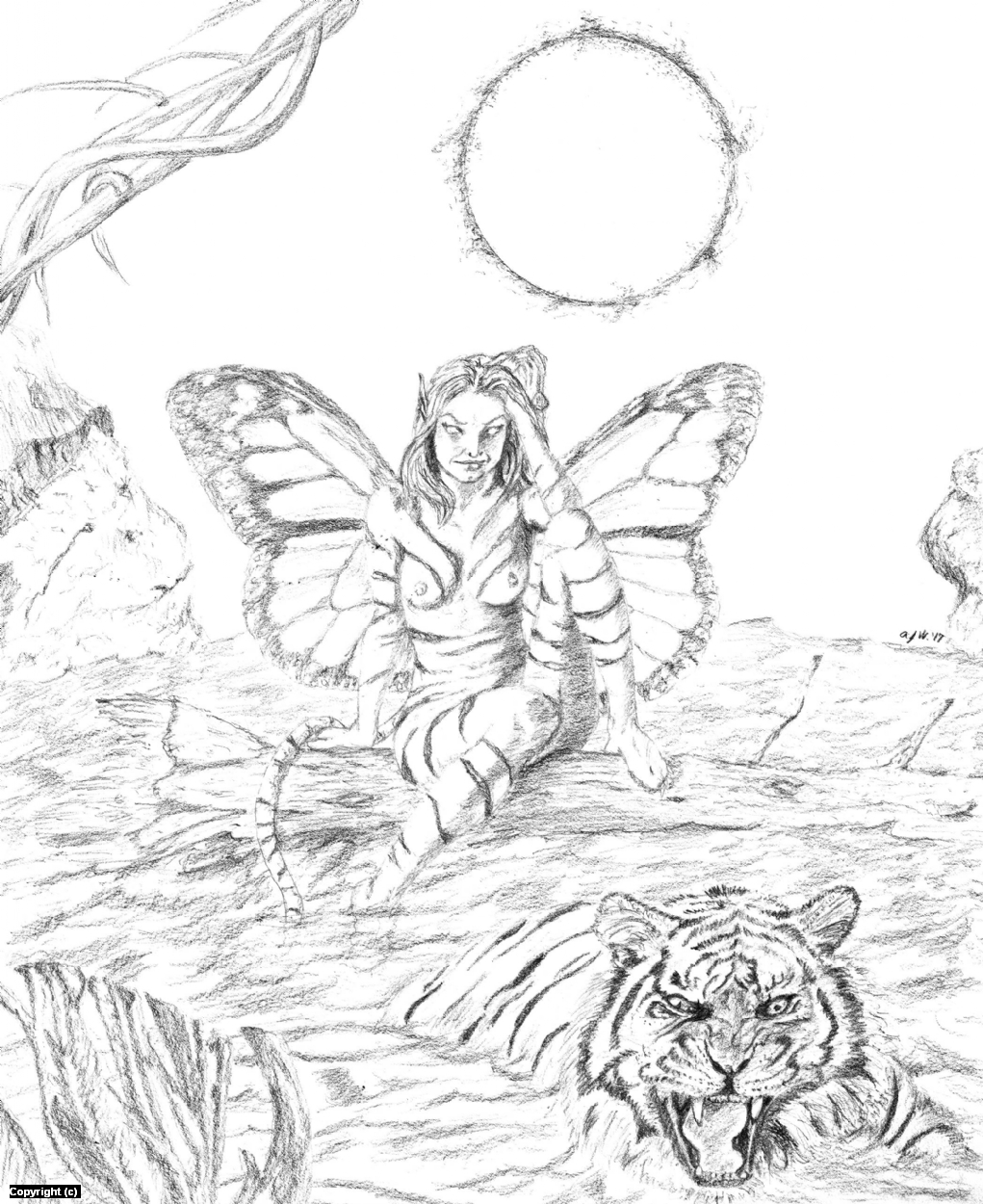 The Tiger Faerie Artwork by A. Jaye Williams