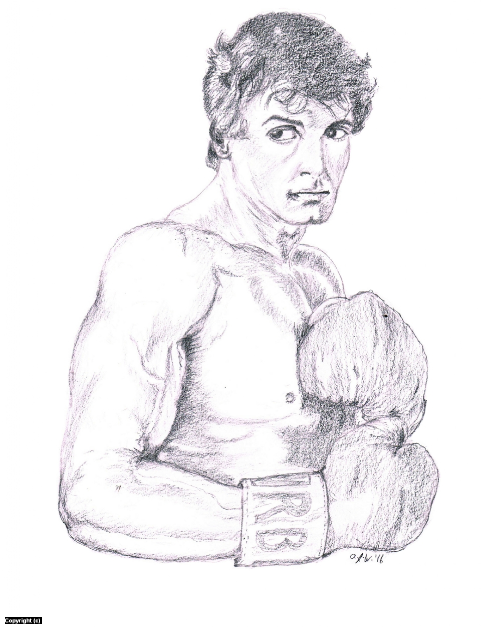 Rocky Balboa! Artwork by A. Jaye Williams