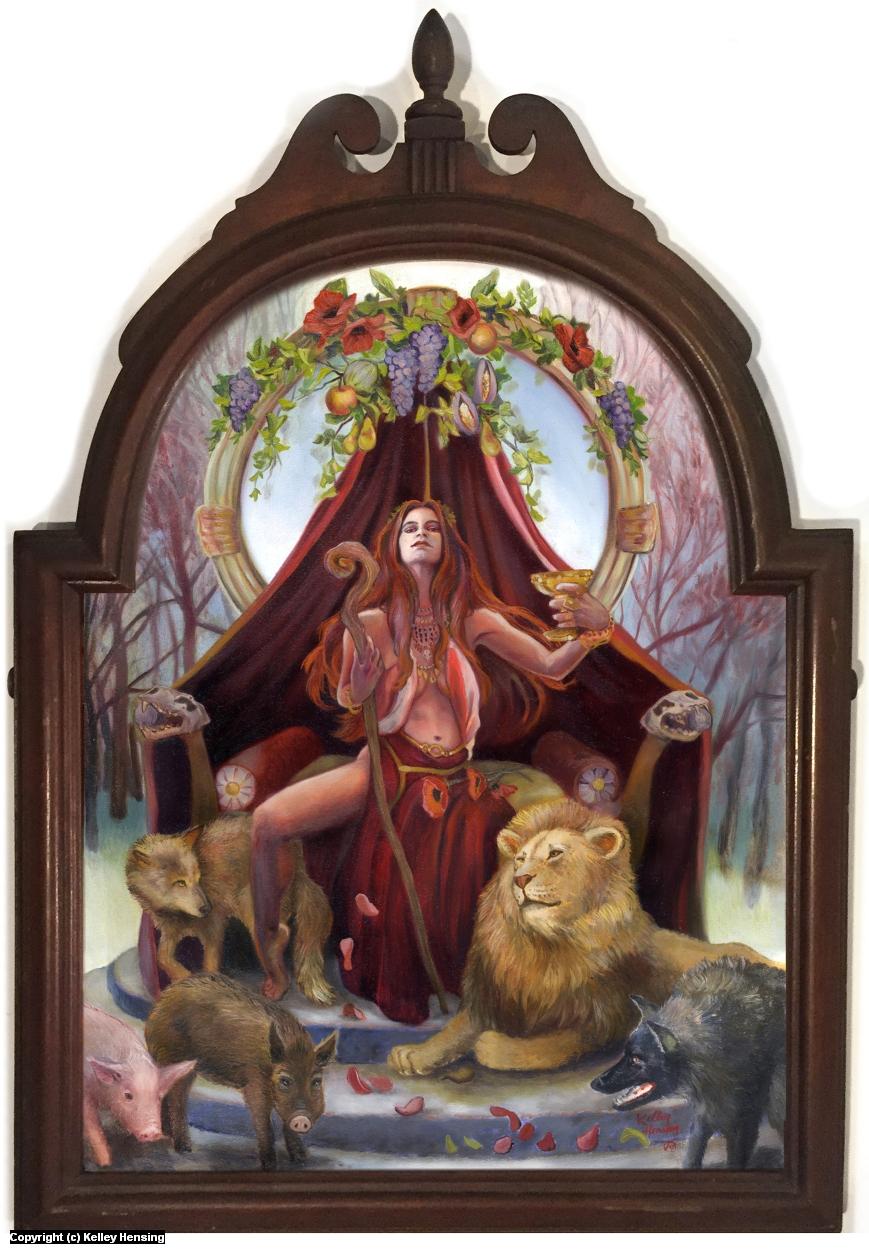 Circe's Throne Artwork by Kelley Hensing