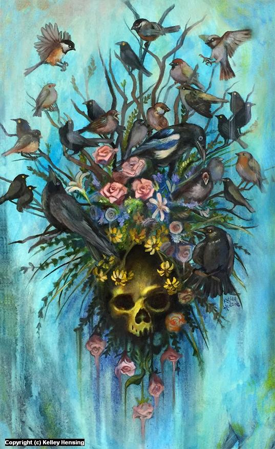 Mourning Birds Artwork by Kelley Hensing