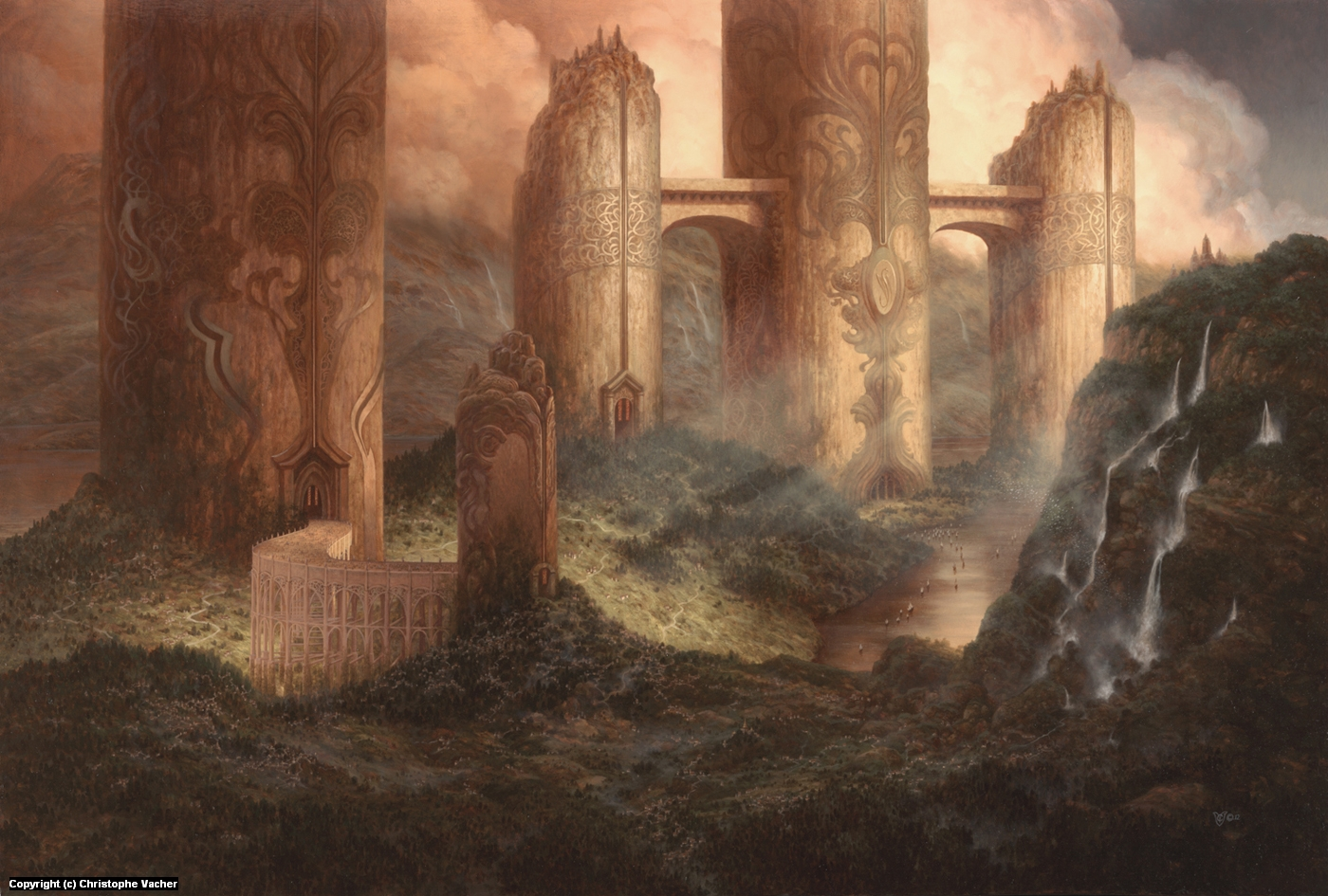Neo-Samarkand Artwork by Christophe Vacher