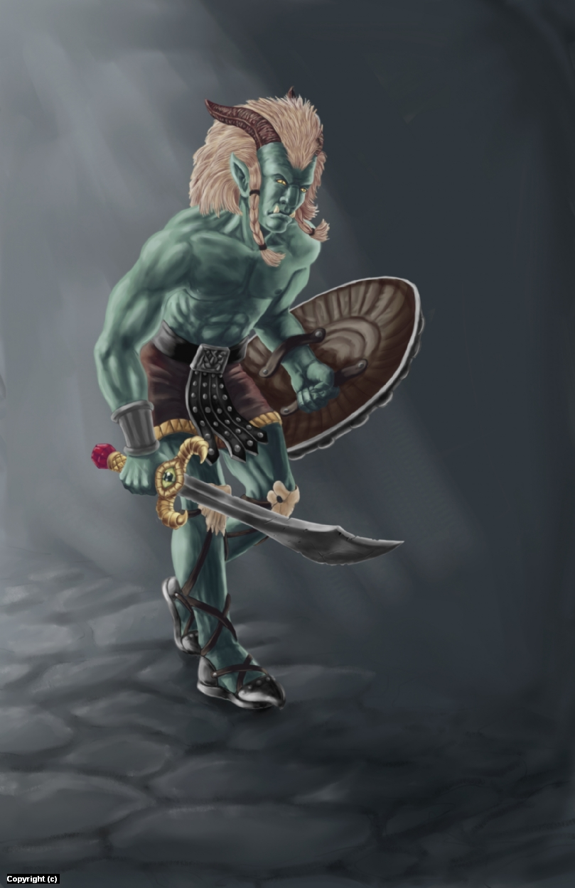 Goblin Warrior Artwork by Alison Williams