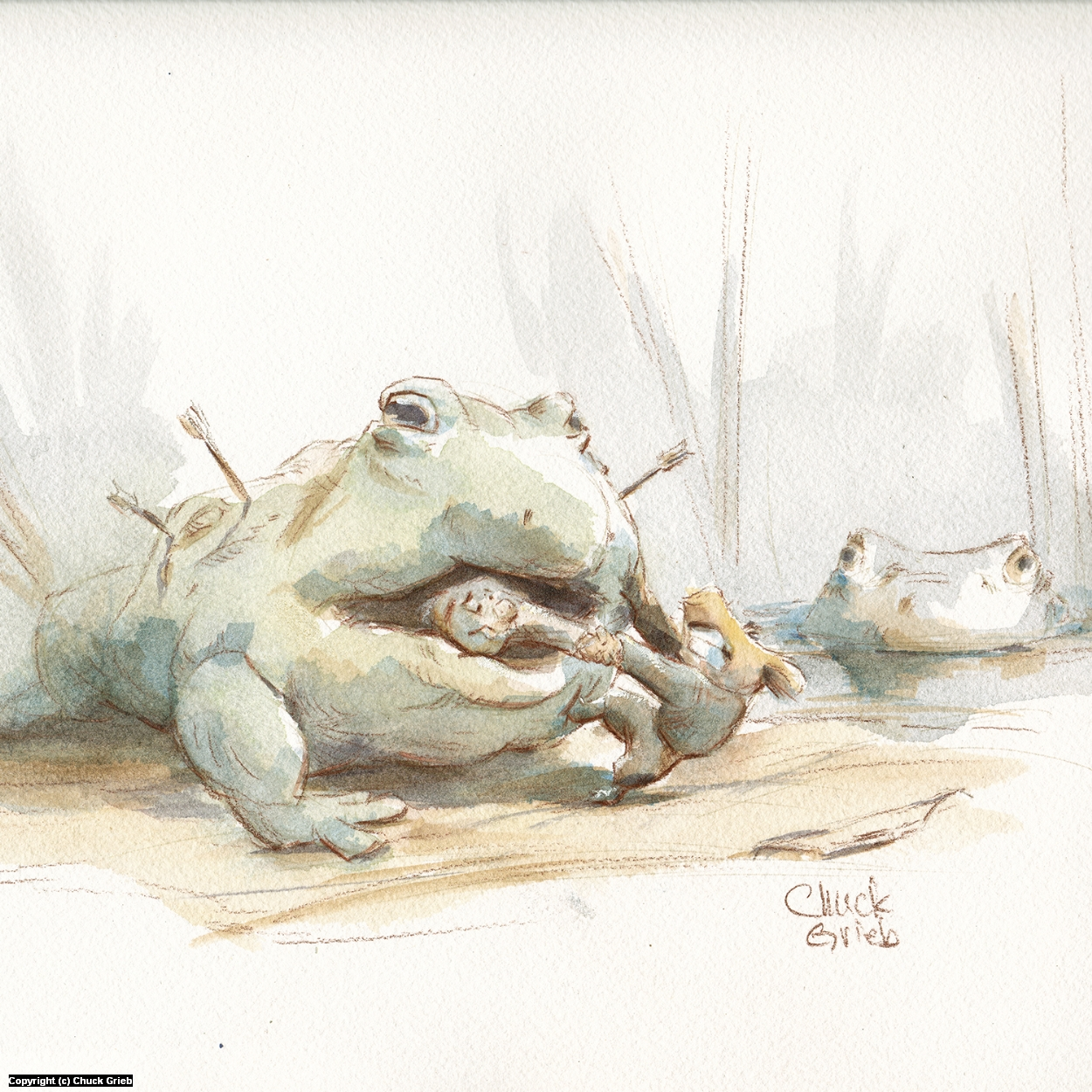 Frog! Artwork by Chuck Grieb