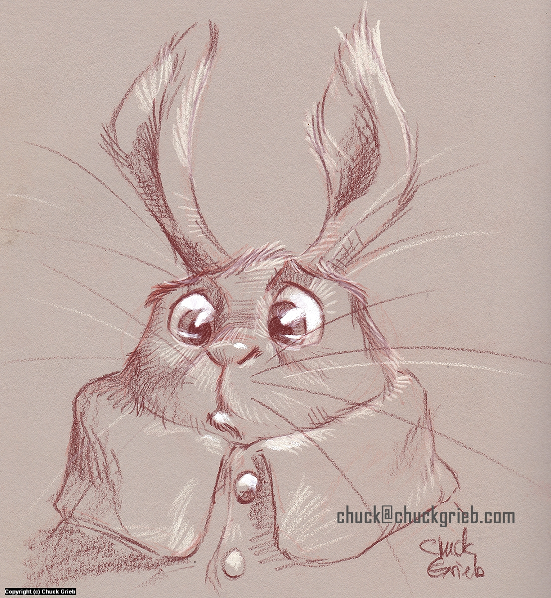 Little Bunny Artwork by Chuck Grieb
