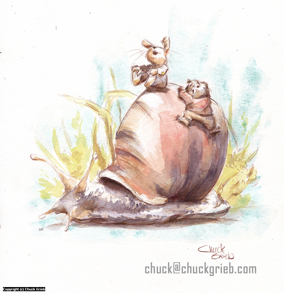 Snail Artwork by Chuck Grieb
