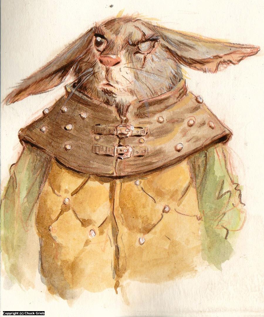 Veteran of the Goblin Wars Artwork by Chuck Grieb