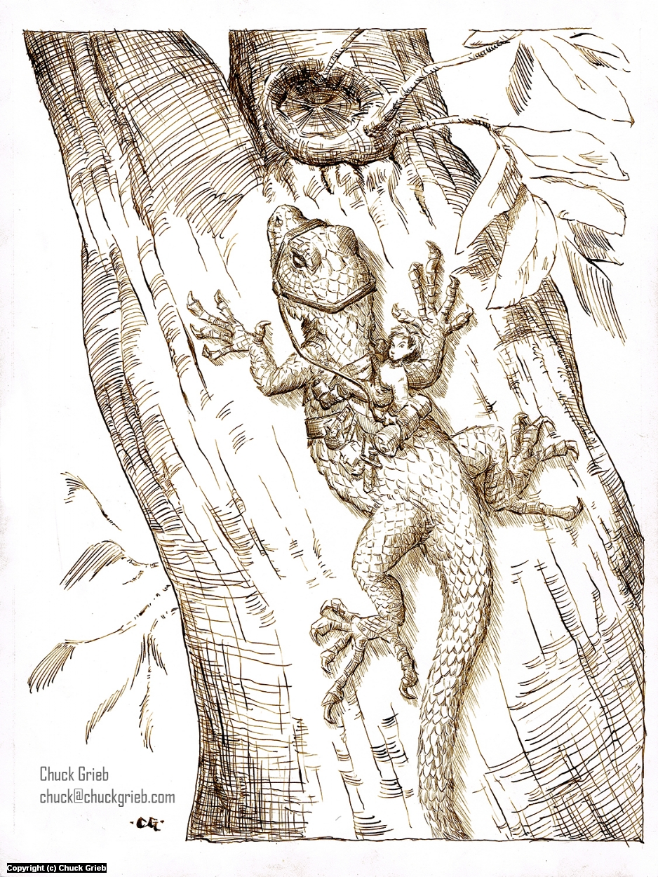 In a Tree Artwork by Chuck Grieb