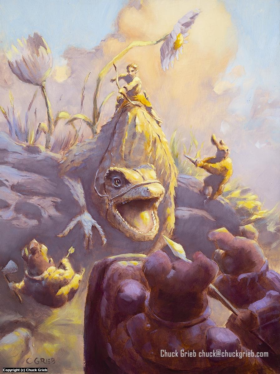Lizard Ambush! Artwork by Chuck Grieb
