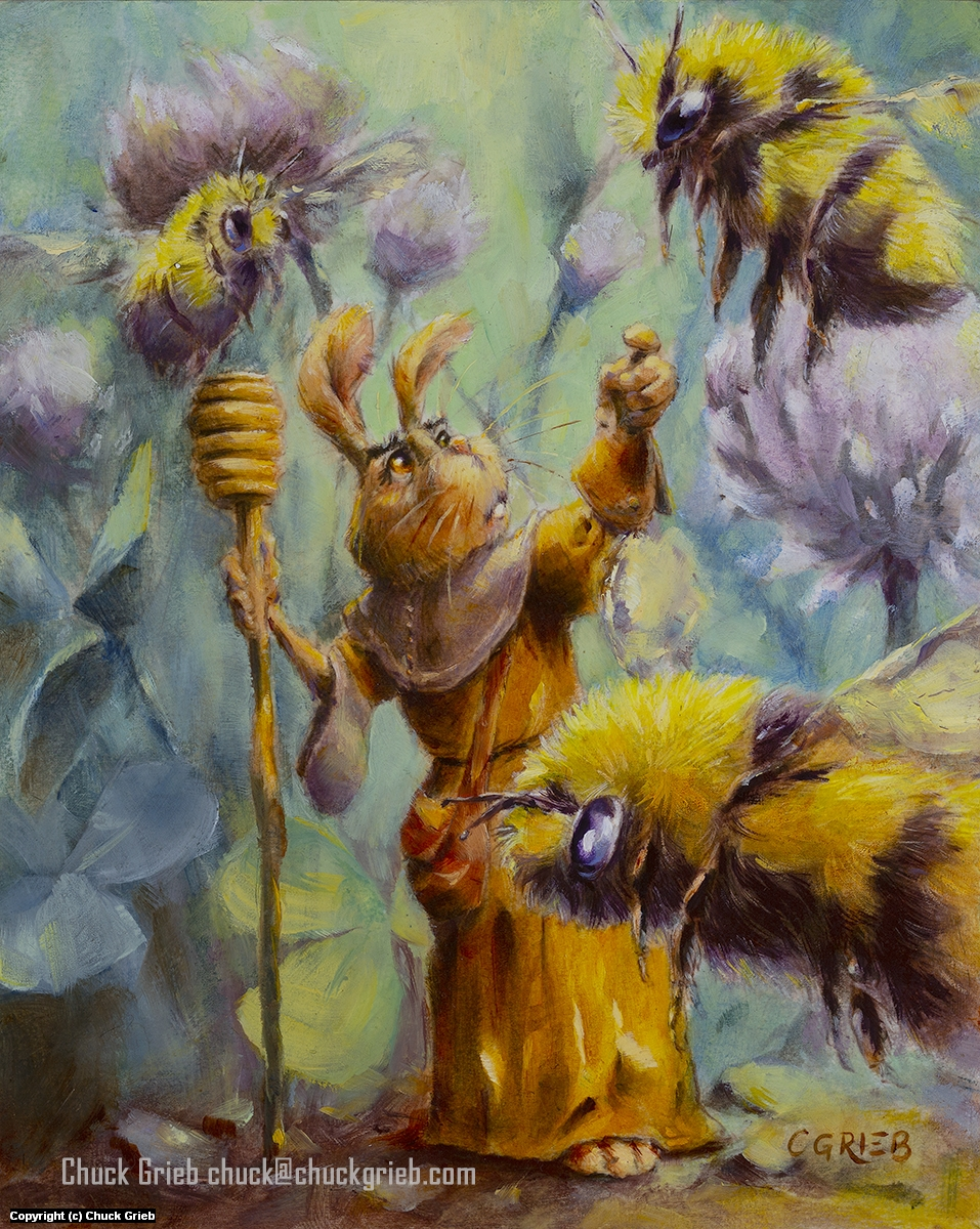 Lark, the Bee Keeper Artwork by Chuck Grieb