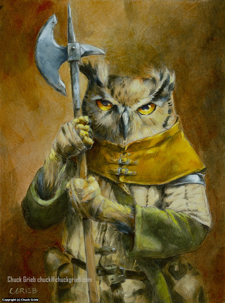 Arcturus, a Garden Clan Knight Artwork by Chuck Grieb
