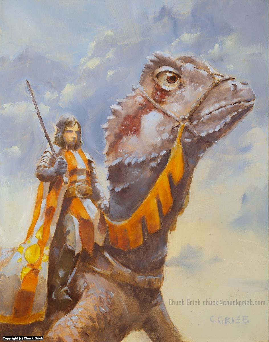Lizard Warrior Artwork by Chuck Grieb