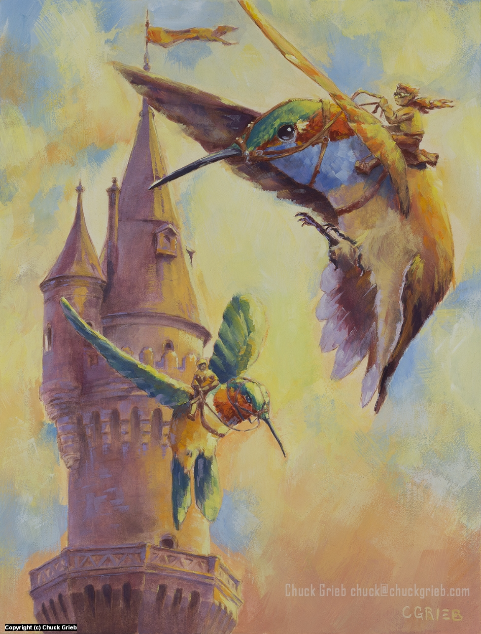 Hummingbird Tower Artwork by Chuck Grieb