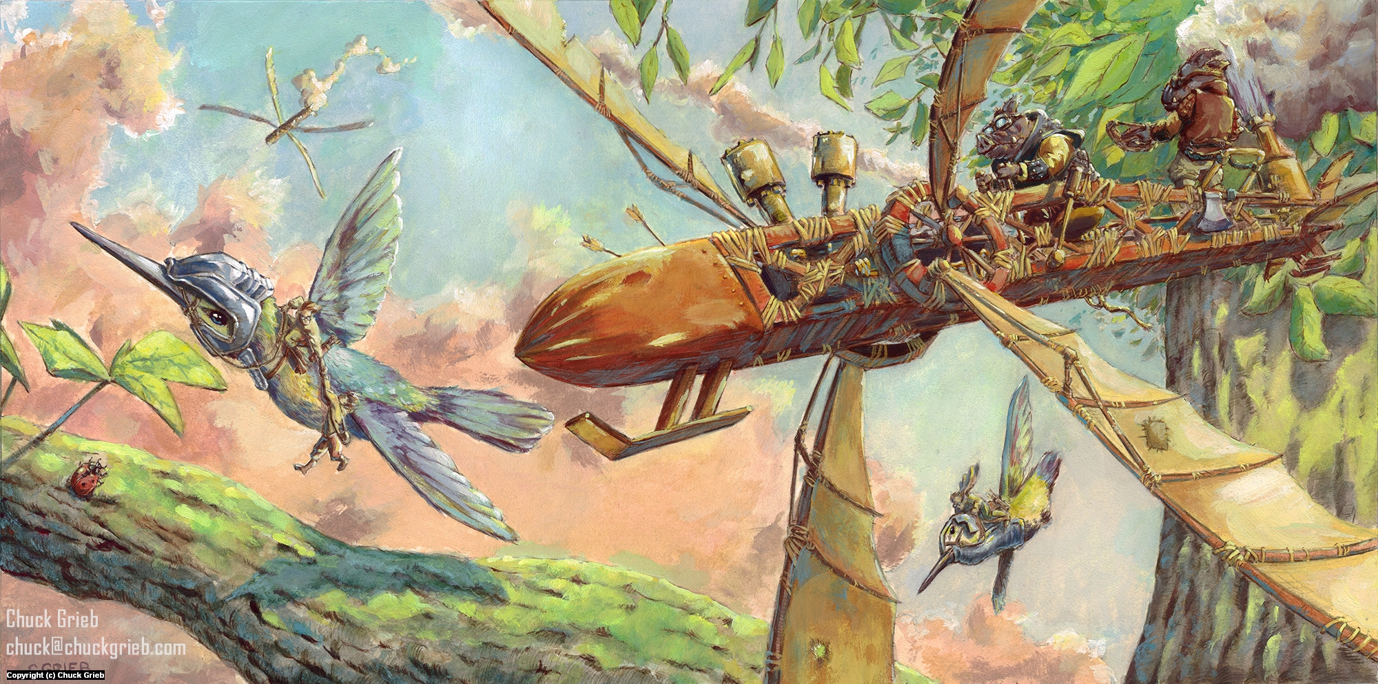 Dogfight Artwork by Chuck Grieb