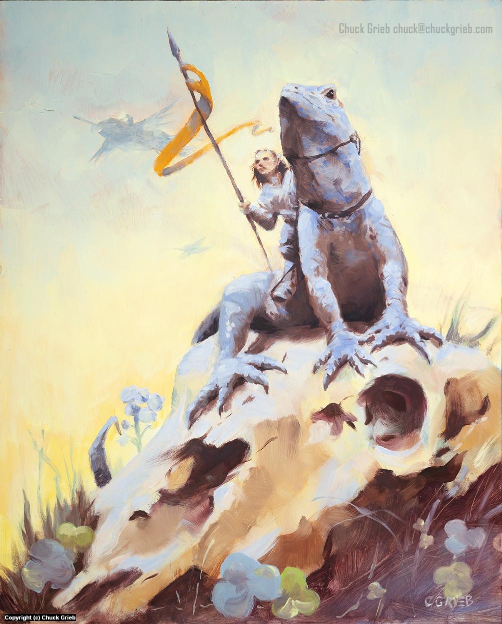 Lizard Banner Artwork by Chuck Grieb