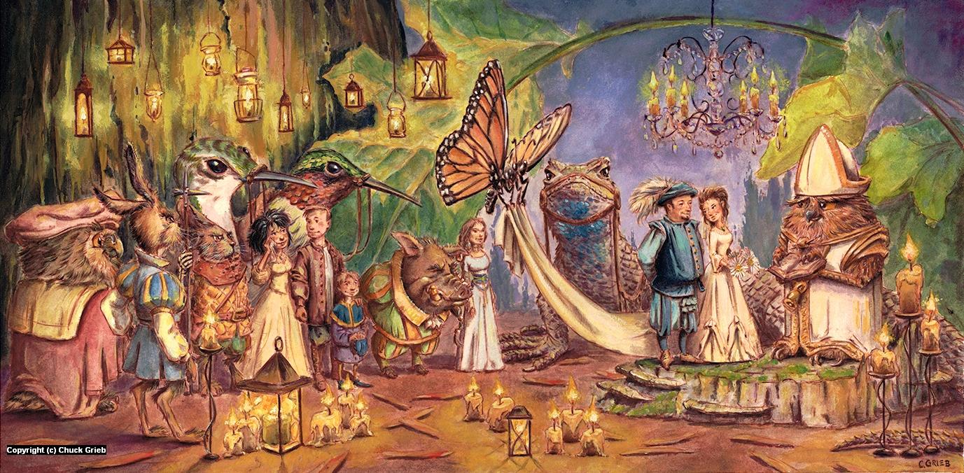 Faerie Wedding Artwork by Chuck Grieb