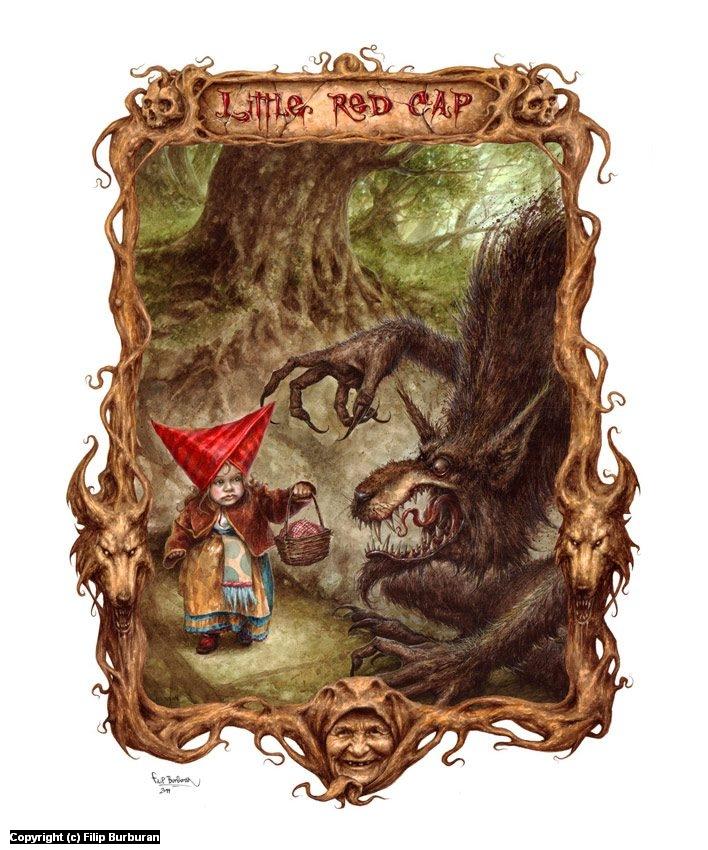 Little Red Cap Artwork by Filip Burburan