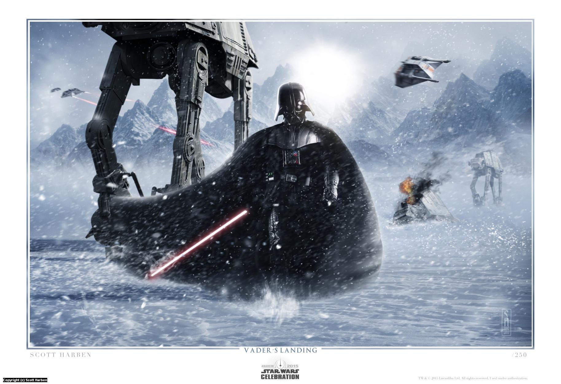 Vader's Landing Artwork by Scott Harben