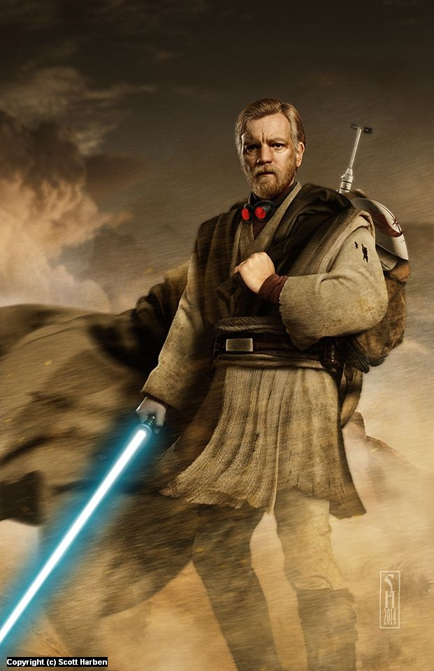 Obi Wan Artwork by Scott Harben