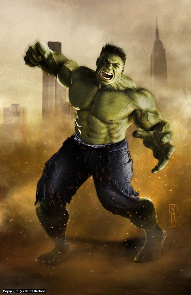 Hulk Artwork by Scott Harben