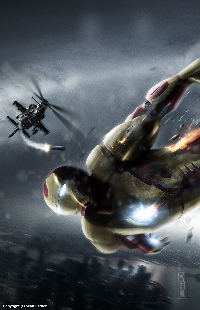 Ironman III Artwork by Scott Harben