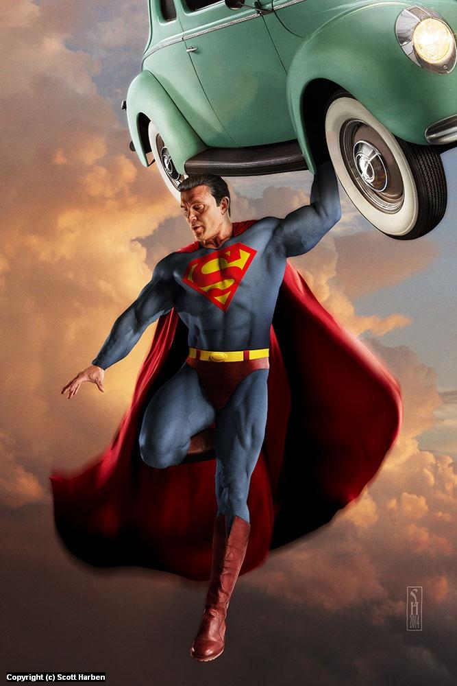 Homage to Superman Artwork by Scott Harben