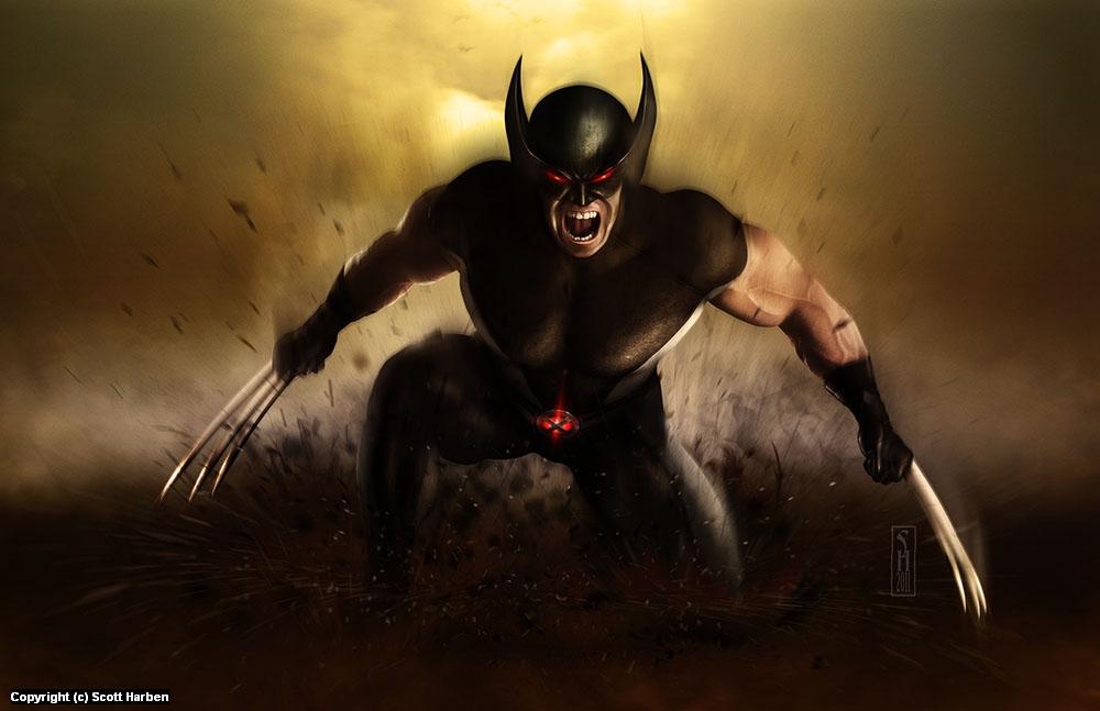 X-Force Wolverine Artwork by Scott Harben