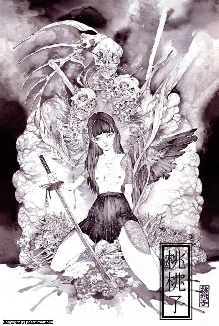 girls and corpses Artwork by MoMoKo Peach