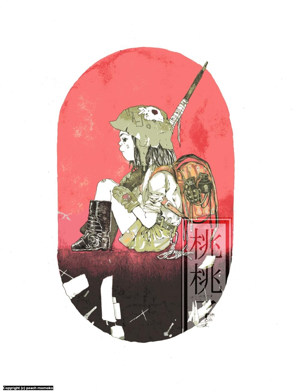ransel tai Artwork by MoMoKo Peach