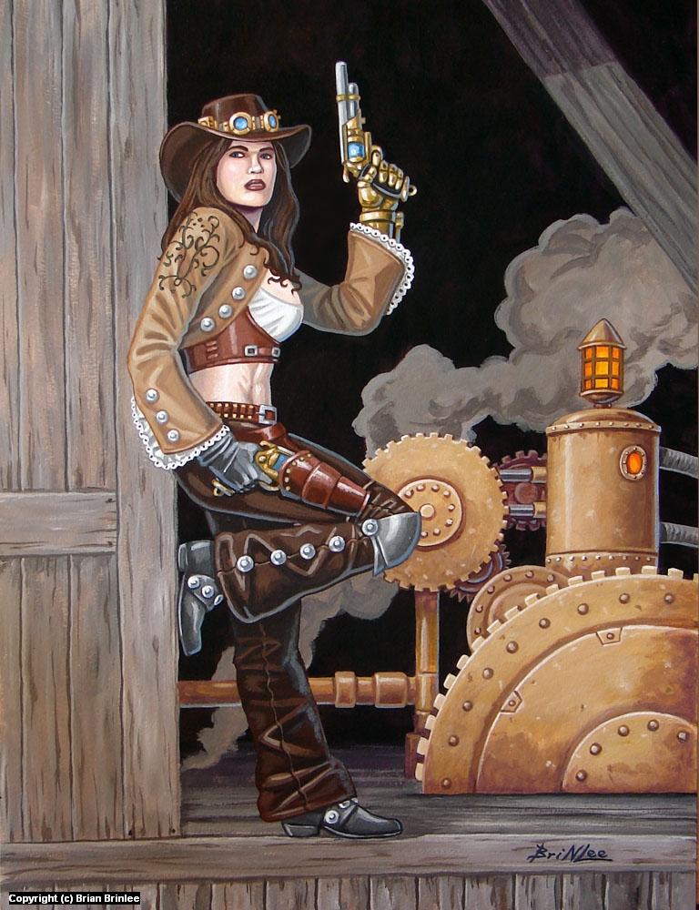Steam Western Artwork by Brian Brinlee