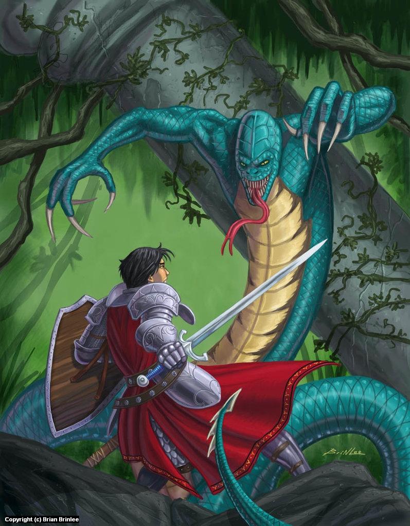 Swamp Encounter Artwork by Brian Brinlee