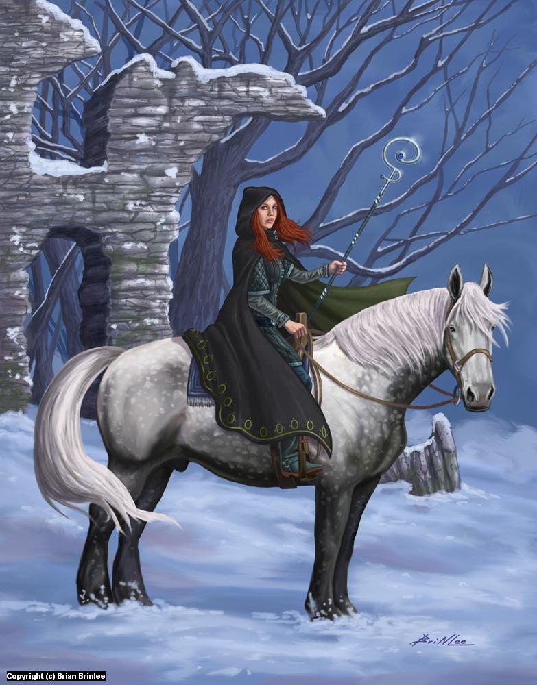 Winter Rider Artwork by Brian Brinlee