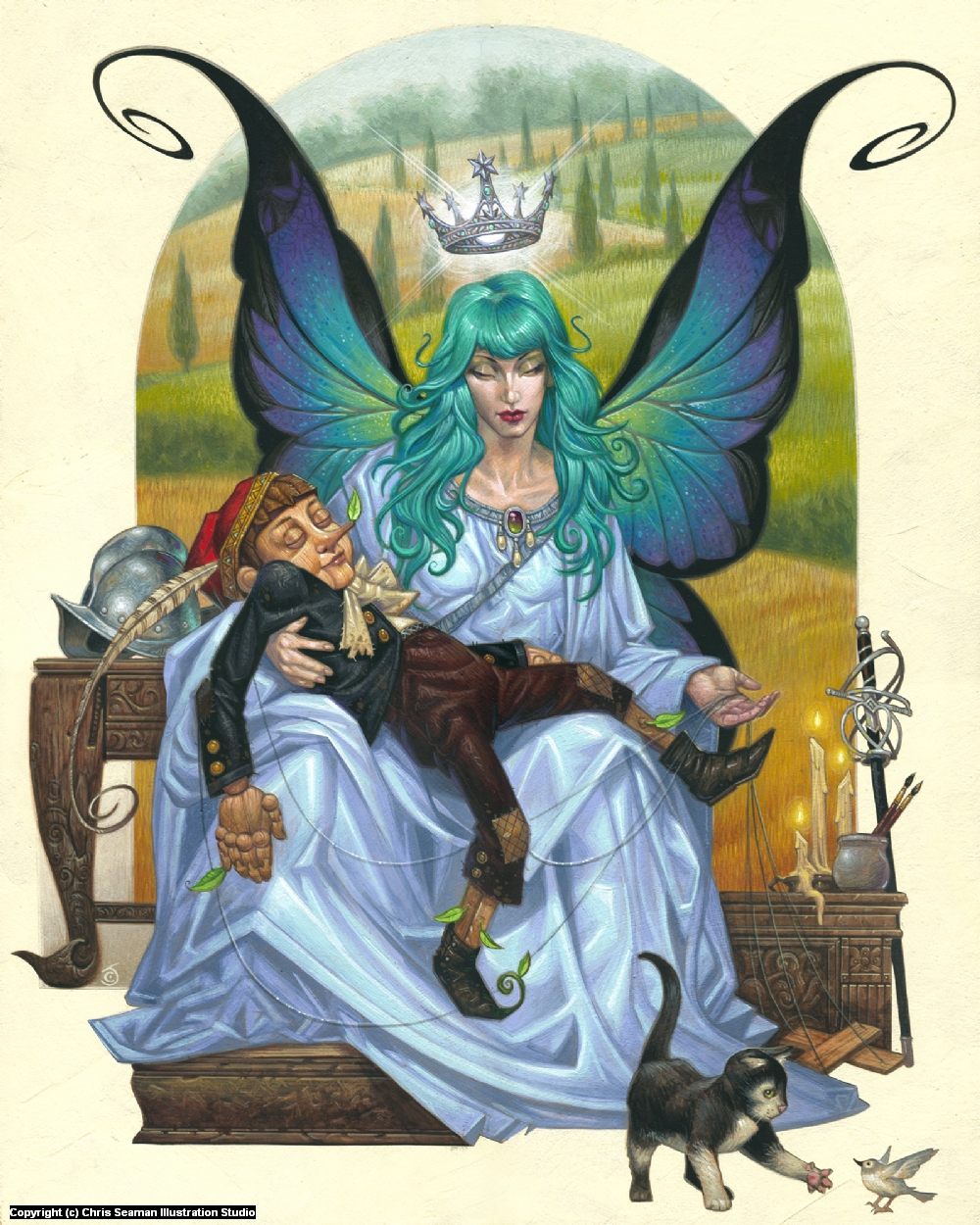 Fairy with the Turquoise Hair Artwork by Chris Seaman