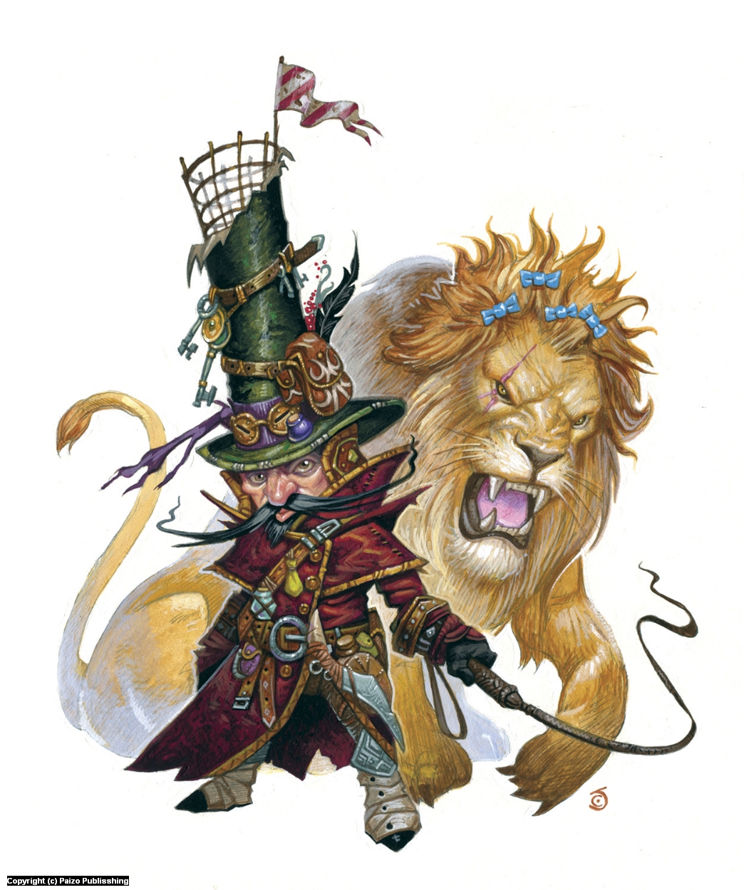Yimni Zushergal, Lion Tamer Artwork by Chris Seaman