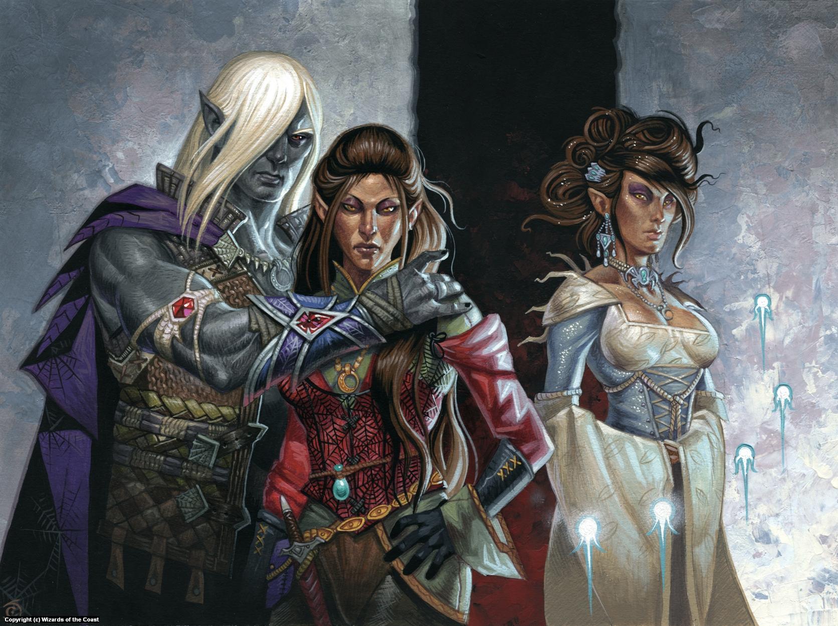 The Elves of Ardril Ereldain Artwork by Chris Seaman
