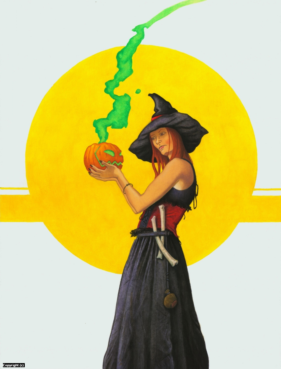 Halloween Witch Artwork by Stacy Drum