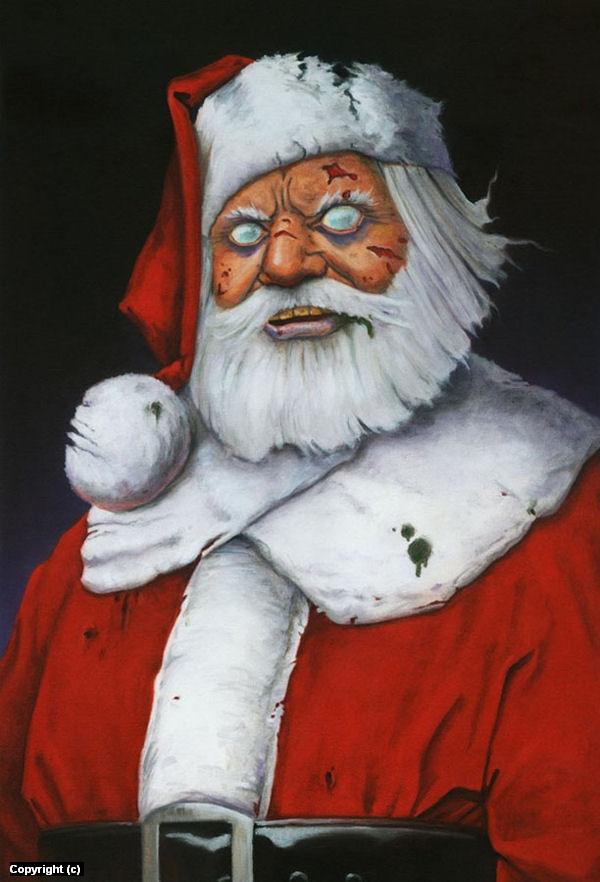 Santa Zombie Artwork by Stacy Drum