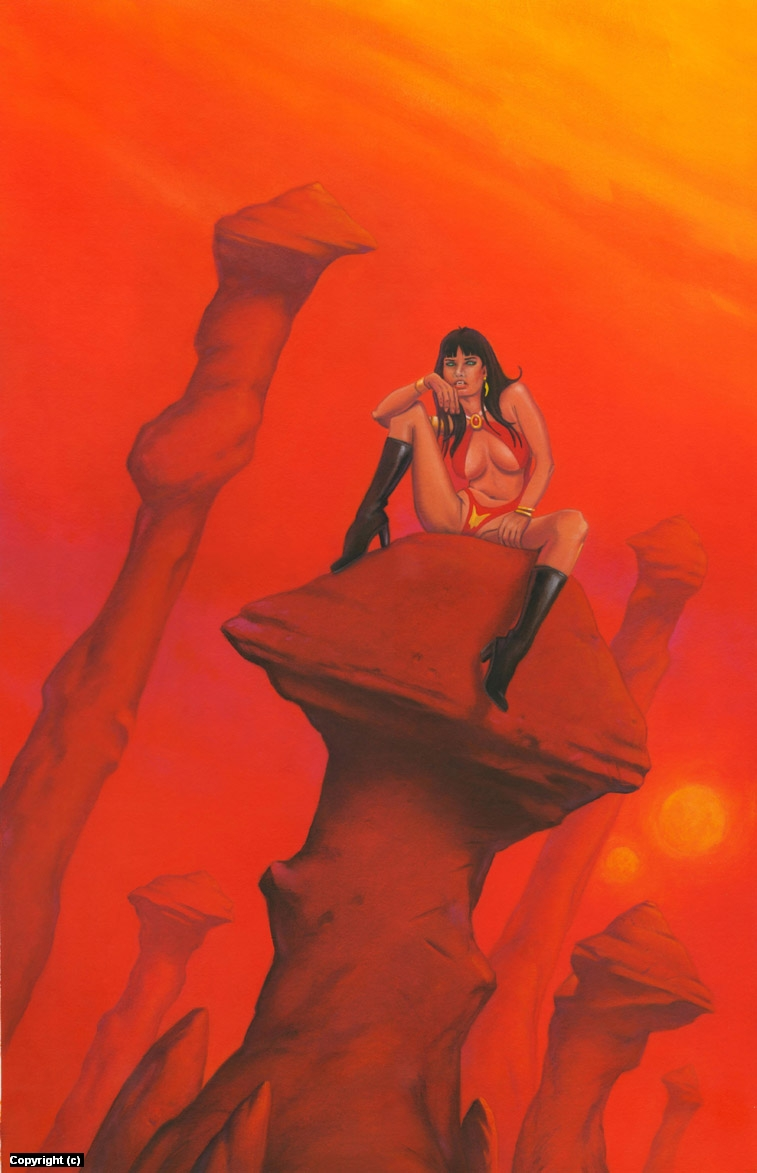 Vampirella 4 Artwork by Stacy Drum