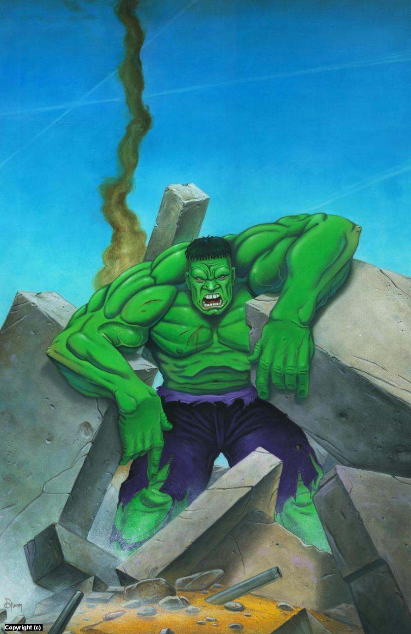 Hulk, Angry Artwork by Stacy Drum