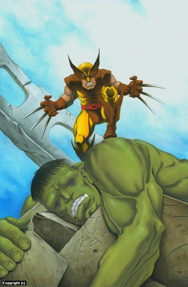 Marvel's Hulk and Wolverine Artwork by Stacy Drum